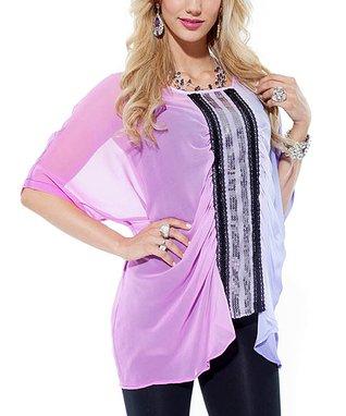 Pink & Purple Ombré Top