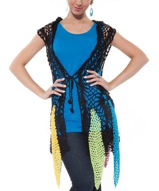 Black Crocheted Duster