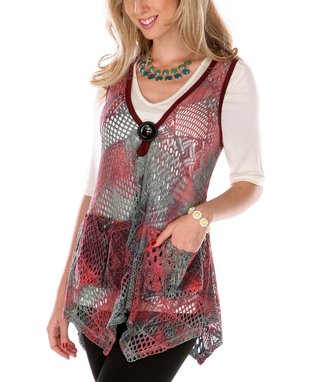 Raspberry & Black Sheer Patchwork Tunic
