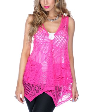 Pink Sheer Patchwork Tunic
