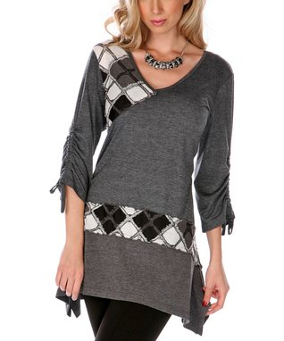 Black Argyle Tunic