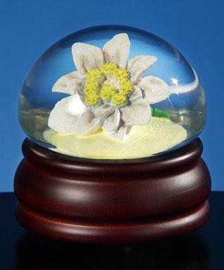 Edelweiss Flower Musical Water Globe