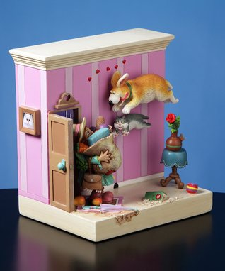 Pets & Owner Musical Figurine