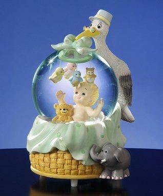 Stork & Baby Musical Water Globe