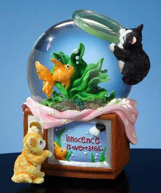 Kittens & Fishbowl Musical Water Globe