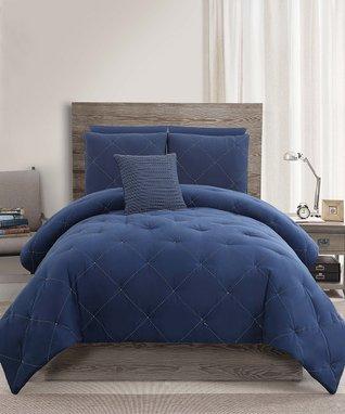 Navy Charlotte Comforter Set