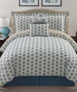 Blue Delancey Comforter Set