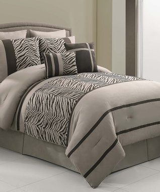 White Charlotte Comforter Set