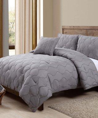 Chocolate Nora Comforter Set