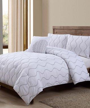 Navy Nora Comforter Set