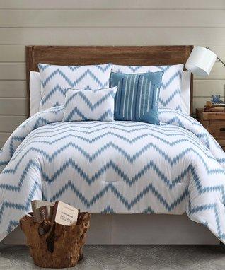 Blue Zigfield Comforter Set