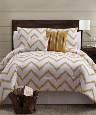 Brown Zigfield Comforter Set