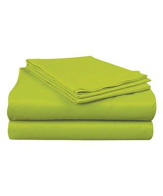 Bright Lime Microfiber Sheet Set
