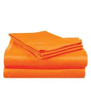 Bright Orange Microfiber Sheet Set