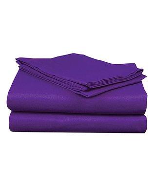 Bright Purple Microfiber Sheet Set Purple
