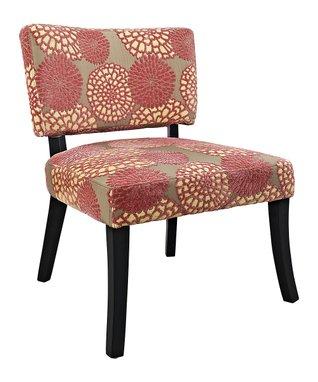 Pink Flower Armless Chair