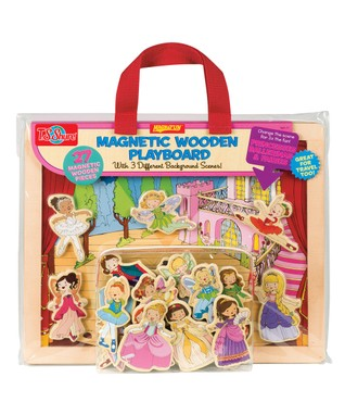 Princesses, Ballerinas & Fairies Wooden Playboard Set