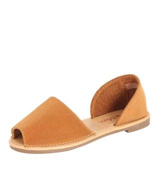 Brown Jazz Peep-Toe Sandal