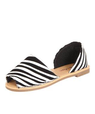 Black Peep-Toe Sandal