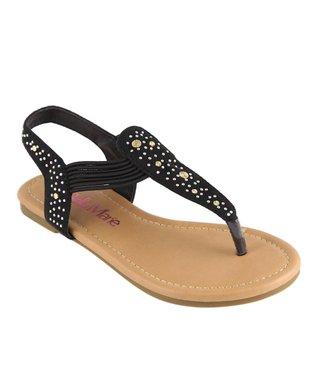 Zebra Peep-Toe Sandal
