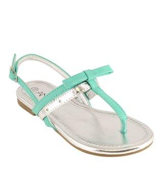 Blue Glitter Sandal
