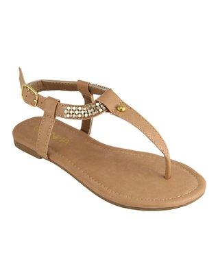 Black Bead T-Strap Sandal