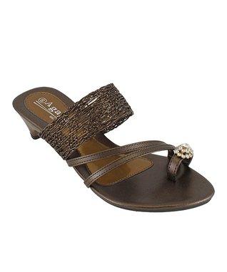 Agape Bronze Ideal Rhinestone Sandal