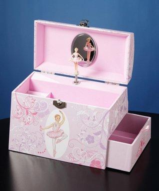 Twirls & Swirls Ballerina Musical Jewelry Box