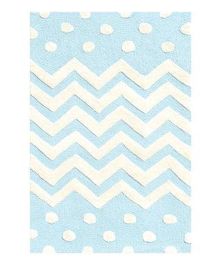 Blue Zigzag Rug