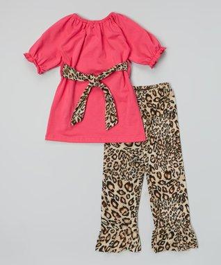 Red & White Zigzag Ruffle Pants - Infant, Toddler & Girls