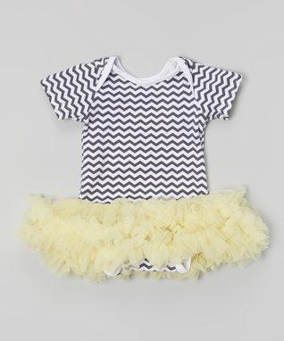 Pink Polka Dot Rosette Tutu Bodysuit - Infant