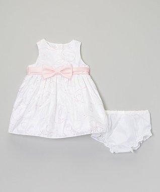 Yellow Floral Stripe Ruffle Dress - Infant, Toddler & Girls