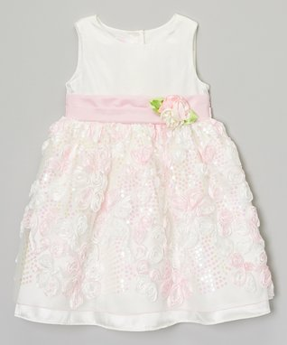 Lilac & Yellow Bow Flower Dress - Toddler & Girls