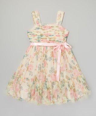White & Pink Tulip Dress - Infant & Toddler