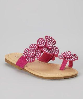Fuchsia Toe-Strap Sandal
