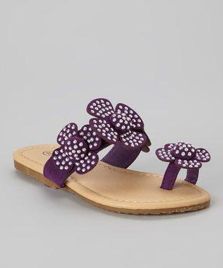 Purple Toe-Strap Sandal