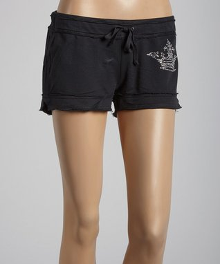 Black 'Crown' Shorts