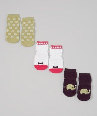 Purple Love Elephant Socks Set