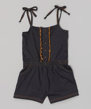 Denim Romper - Infant, Toddler & Girls
