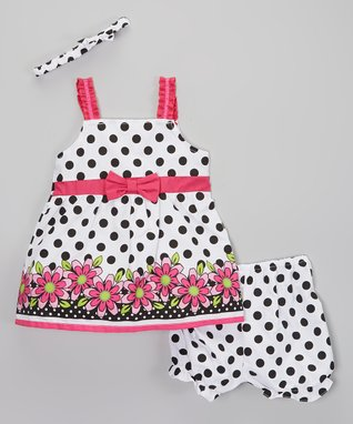 Vitamins Baby Pink Dream Dress & Diaper Cover - Infant