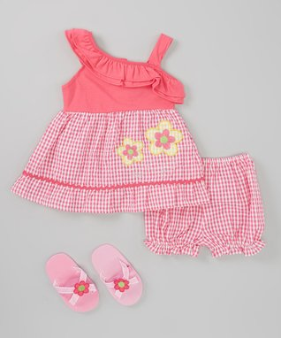 Dollhouse Yellow Heart Ruffle Chiffon Dress & Diaper Cover - Infant