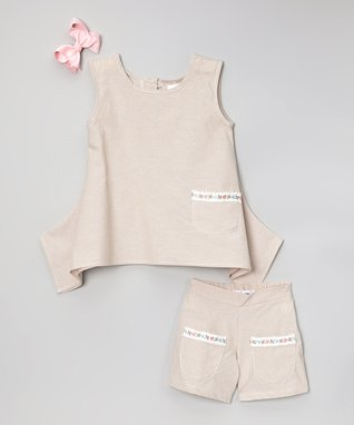 Lavender Flower Tutu Dress & Clip - Infant, Toddler & Girls