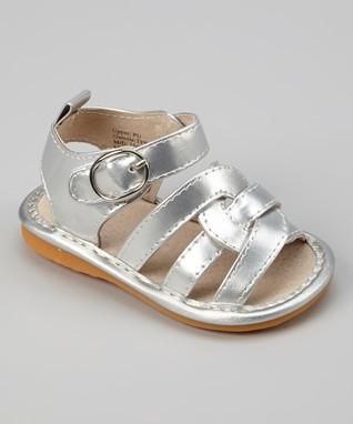 8435cd3d17 Laniecakes Silver Twist Squeaker Sandal