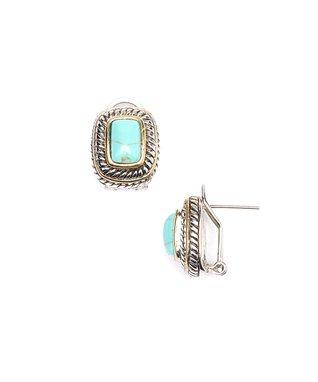 Ruby Square Stud Earrings