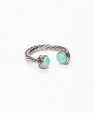 Turquoise & Silver Wraparound Ring