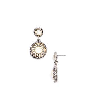 Silver Pavé Cubic Zirconia Square Earrings