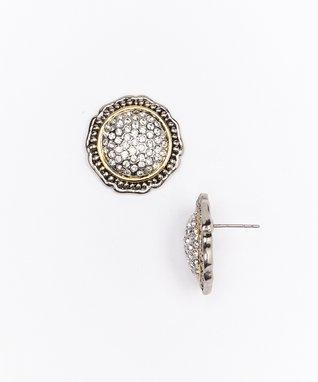 Black Cross Stud Earrings & Pendant Necklace