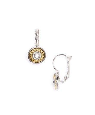 Gold & Cubic Zirconia Drop Earrings