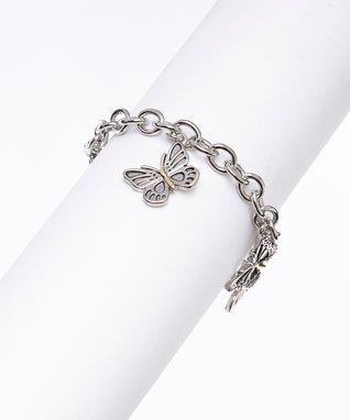 Cubic Zirconia & Silver X Bracelet