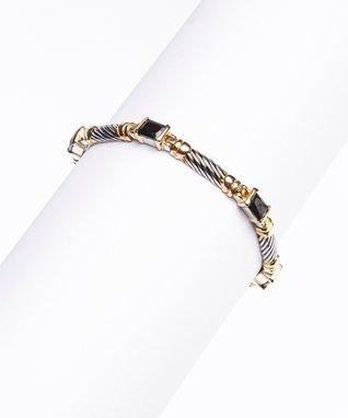 Amethyst & Cubic Zirconia Baguette Bracelet